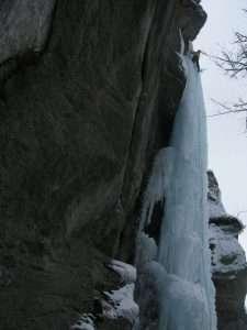 Il capriccio de Lucy, WI6, en el Ice Park.Foto:J.Goyanes