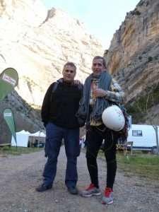 Gabriel Reina y Fernando Alvarez, a punto de realizar el sueño de repetir su via de Terradets