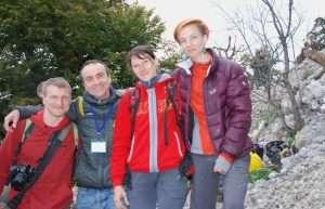 Con Yulia, Alena y un amigo